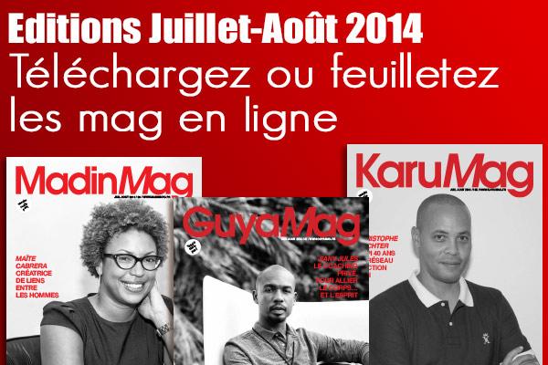 Feuilletez et téléchargez les magazines de Juillet-Août 2014