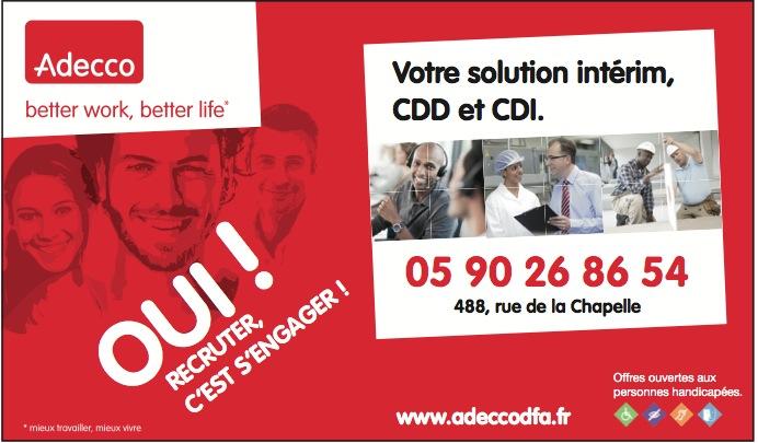 ADECCO : Les offres d'emploi de Guadeloupe