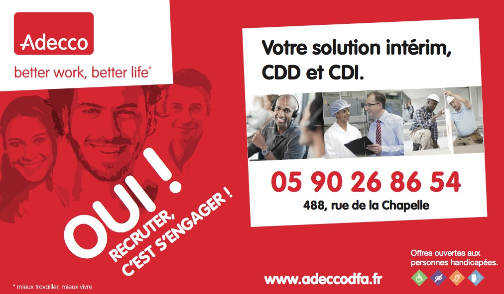 Les offres d'Adecco Guadeloupe