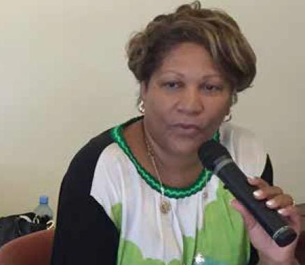 Ariane Fleurival, présidente du Ceser Guyane.