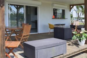 Terrasse maison modulaire