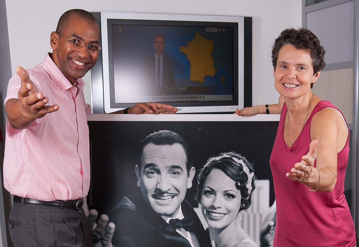 Catherine Carde pilote Canal+ Réunion