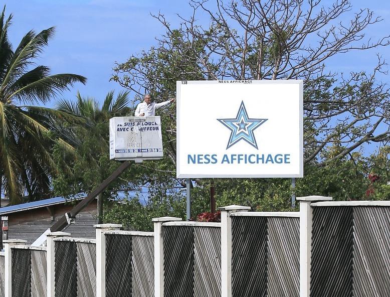 Ness affichage, à la conquête de la Martinique