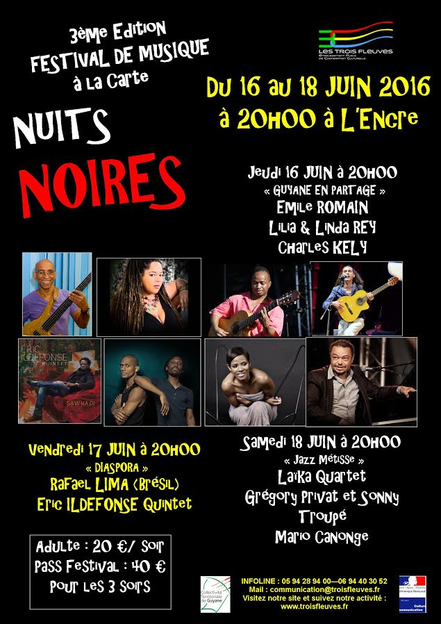 3ème édition du festival de musique à la carte Nuits Noires