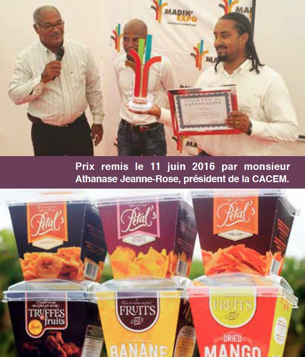 Carib'Fruits remporte le Grand Prix de l'Innovation Madin Expo 2016