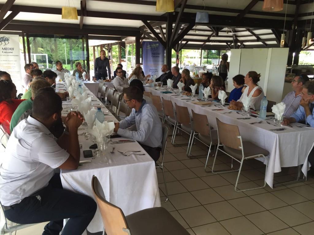 Déjeuner débat du Medef Guyane