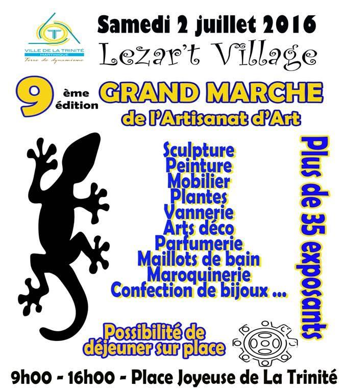 9ème éd. du Grand marché de l'Artisanat d'Art, samedi 2 juillet !