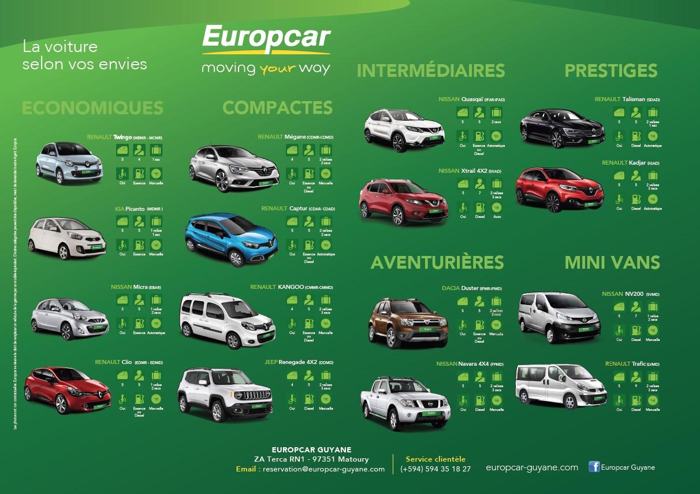 europcar guyane un deux trois partez. Black Bedroom Furniture Sets. Home Design Ideas