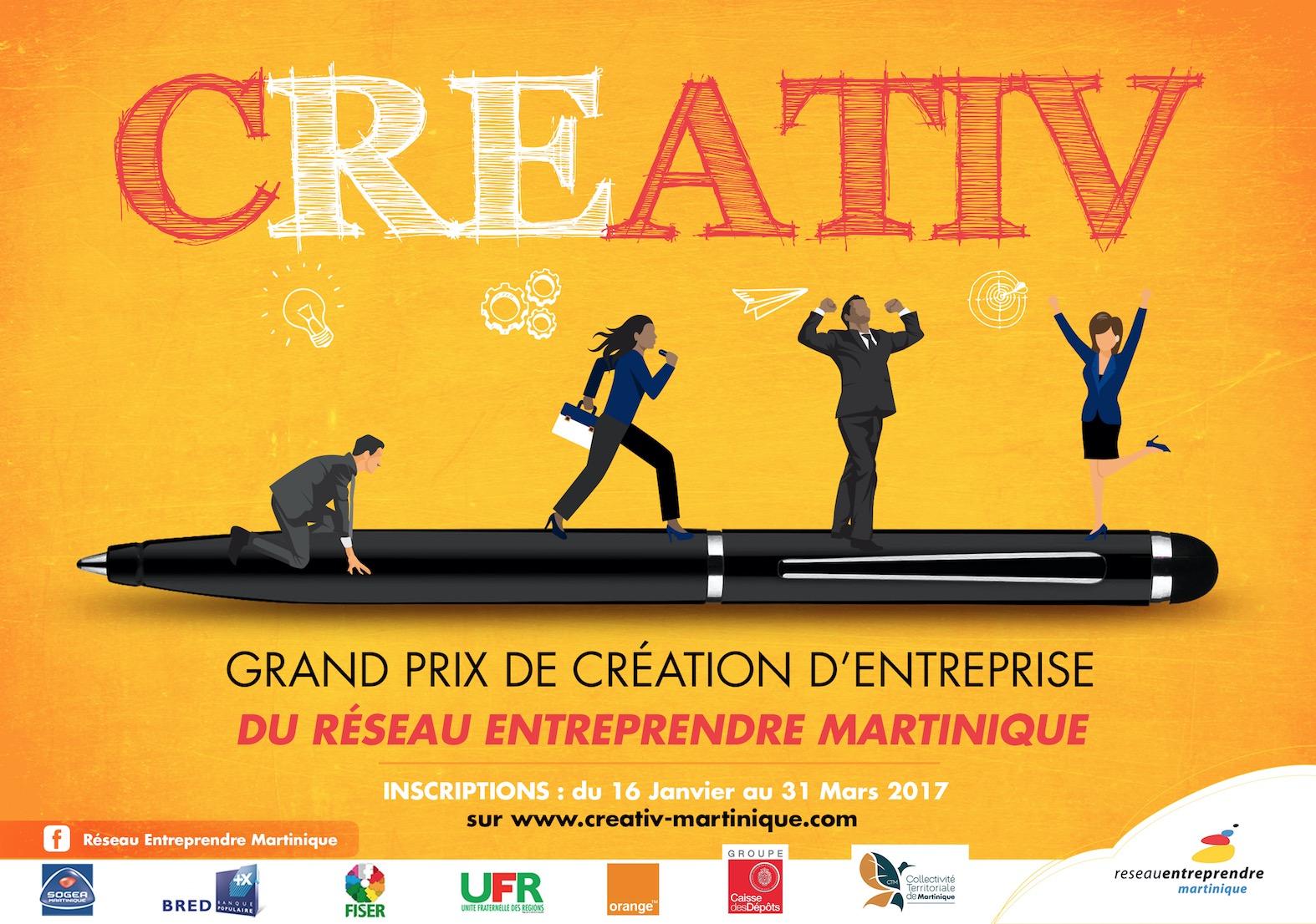 Concours CREATIV Réseau Entreprendre Martinique : devenez lauréat !