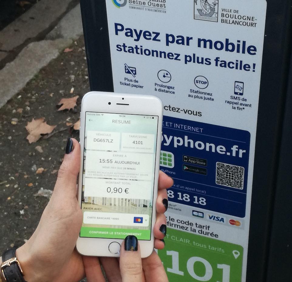 Stationnement dématérialisé une innovation PayByPhone