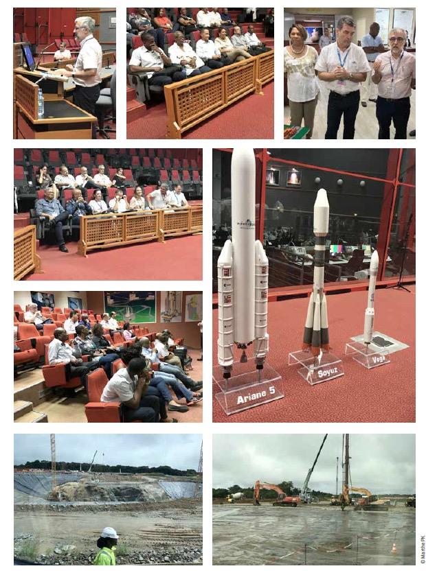 Le Ceser Guyane en visite sur les terres du spatial