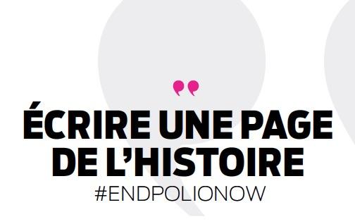 Ecrire une page de l'histoire #EndPolioNow