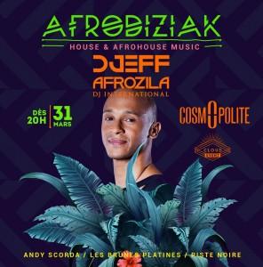 Djeff Afrozila pour une soirée Afrodiziak