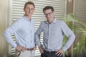 Henri Delecourt (Responsable d'équipe Guyane) et Fabien Rivière (Responsable de la Clientèle Entreprises Antilles-Guyane).