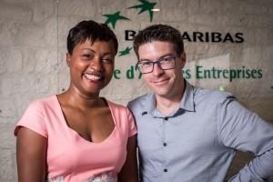 Nathalie BULIN (Responsable d'Equipe Guadeloupe) et Fabien RIVIERE (Responsable de la clientèle Entreprises Antilles-Guyane)