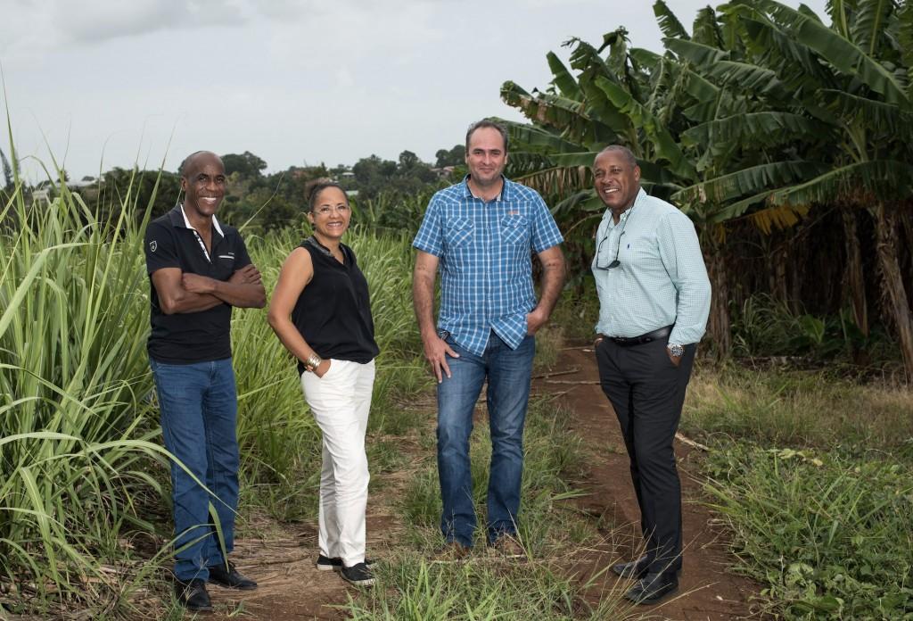 Tony LANCLUME (conseiller foncier BT), Yannick BOC (attachée de direction), Benoît BERLET (conseiller foncier GT), Rodrigue TREFLE (président directeur général)