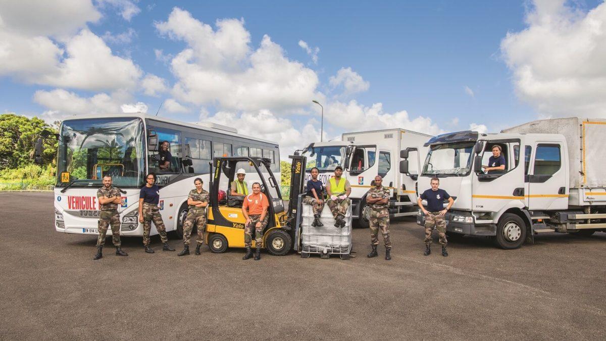 La section transports routiers et magasiniers du RSMA Martinique