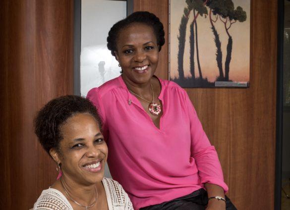 Valérie Larifla (déléguée régionale Outre-Mer de 100 000 Entrepreneurs) et Catherine Linel (responsable marketing et communication chez BNP Paribas Antilles-Guyane)