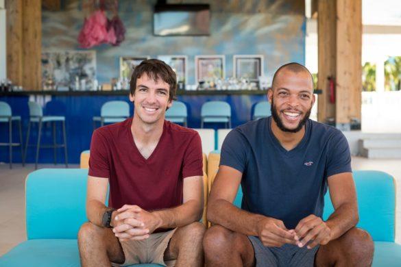 Hugo Thelier et Stephen Radjouki, organisateurs 2019 du Championnat de Voile Traditionnelle de Guadeloupe