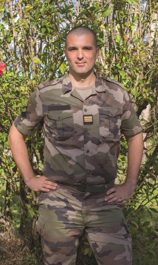 Le capitaine Aimen du RSMA de Martinique
