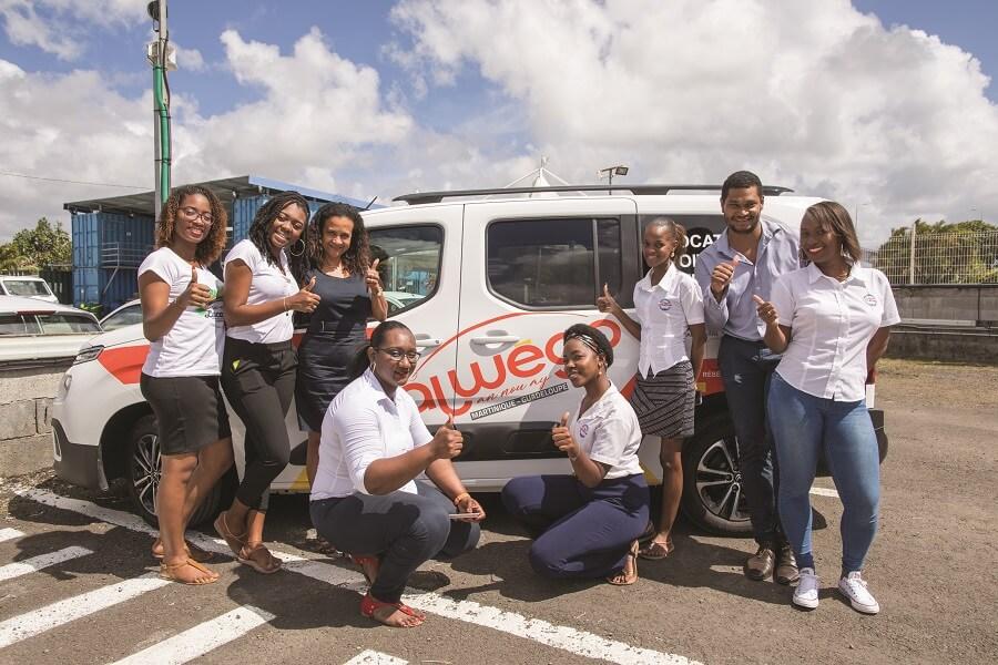 Une partie de l'équipe d'Alwego Martinique