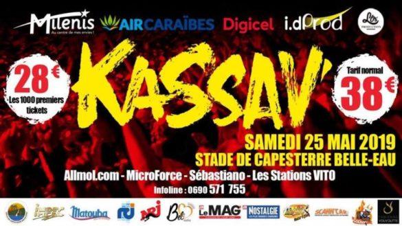 Visuel du concert des 40 ans de kassav en Guadeloupe