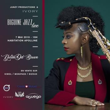 Visuel du festival Biguine Jazz en Martinique