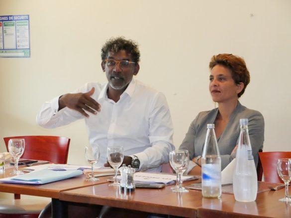 Guy Ferdinand lors d'une discussion organisée par Contact-Entreprises