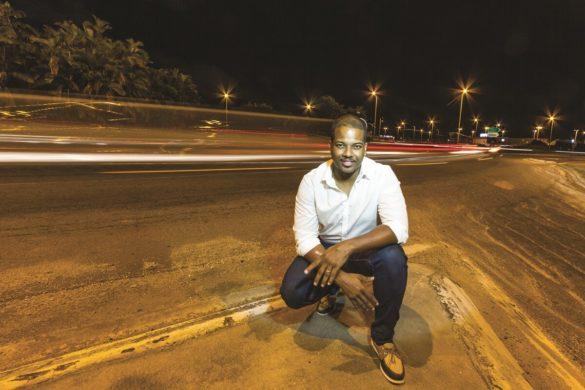 Kevin Madeleine, créateur de l'entreprise de transport Monbus.gf