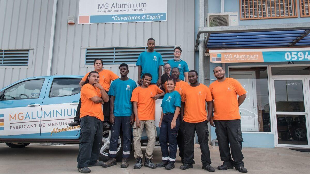 MG Aluminium : expert des  menuiseries aluminium en Guyane