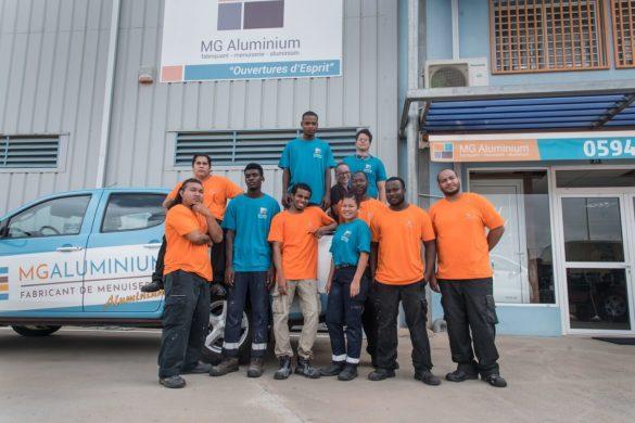 L'équipe de MG Aluminium, spécialiste des menuiseries aluminium en Guyane