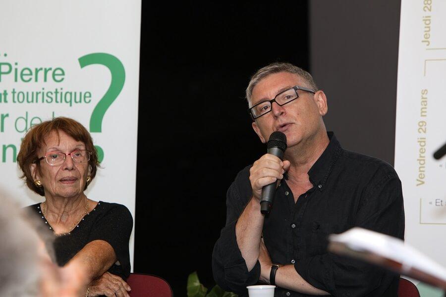 Intervention de Michel Onfray lors des Ateliers de Saint Pierre organisés par Contact-Entreprises
