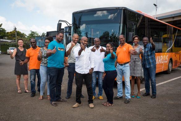 L'équipe de la STAC, société de transport en Guadeloupe