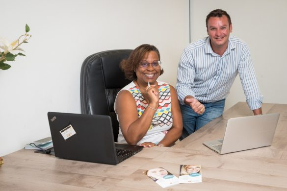 Valentin Marie et Arielle Vingataramin d'April Guadeloupe, affilié à La Centrale de Financement
