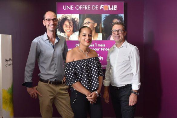 L'équipe d'Alain Afflelou à Basse-Terre en Guadeloupe