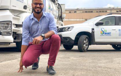 Anicet Zadick, directeur d'exploitation chez Somanet après son retour au péyi