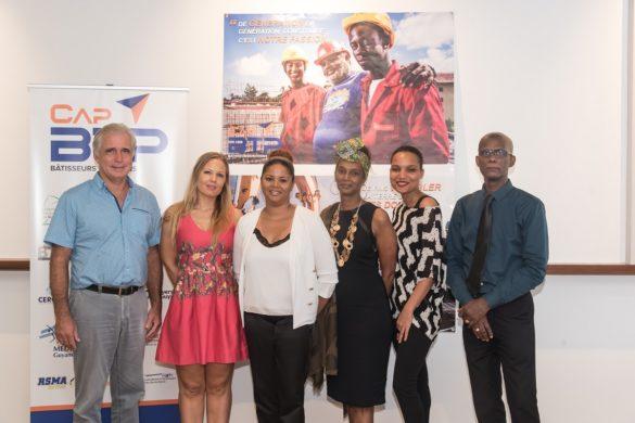 L'équipe de l'association Cap'BTP en Guyane