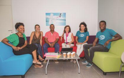 Annie Condamino et des entrepreneurs à un des clubs de Réseau Entreprendre Martinique
