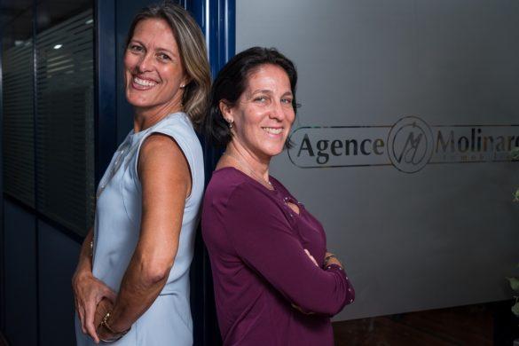 Collaboratrices de l'agence immobilière Molinard en Guadeloupe