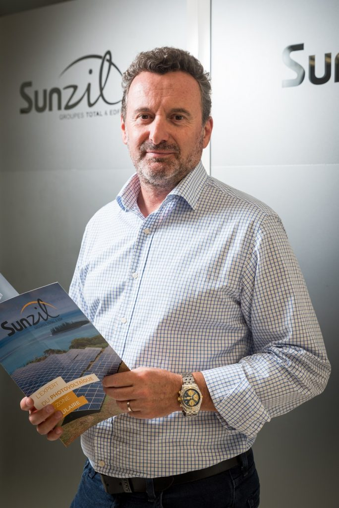 Alain Lafont, directeur de Sunzil, producteur d'énergie solaire en Outre-mer