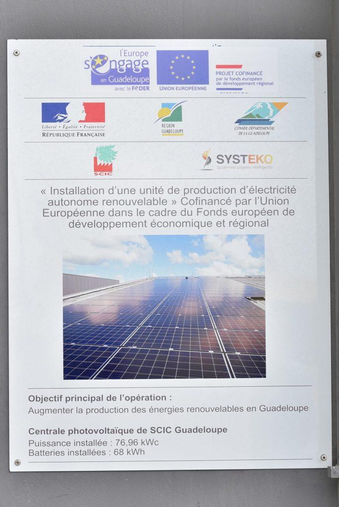 Centrale solaire de la SCIC à Jarry