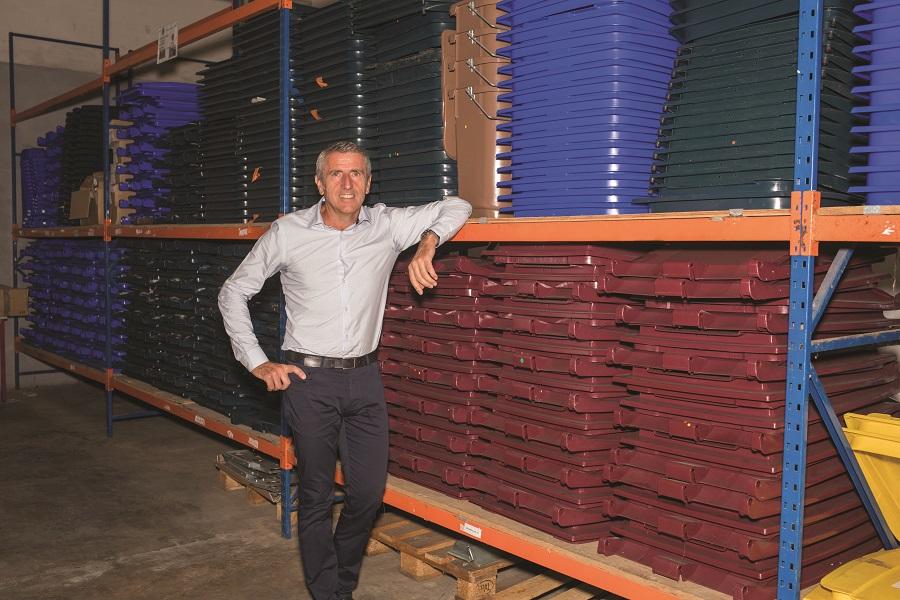 Entrepôt de Sulo Caraibes, spécialiste de la collecte des déchets