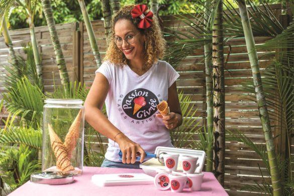 Créatrice des glaces et sorbets Passion Givrée en Martinique