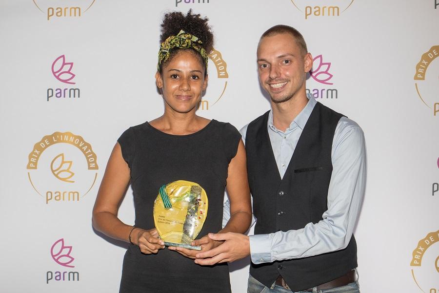 Représentants de l'entreprise A votre goût, récompensé par le Prix de l'Innovation du PARM