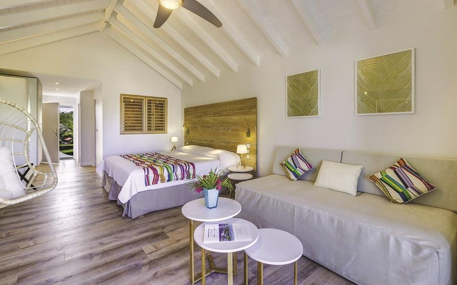 Chambre de l'hôtel La Playa à Saint-Martin