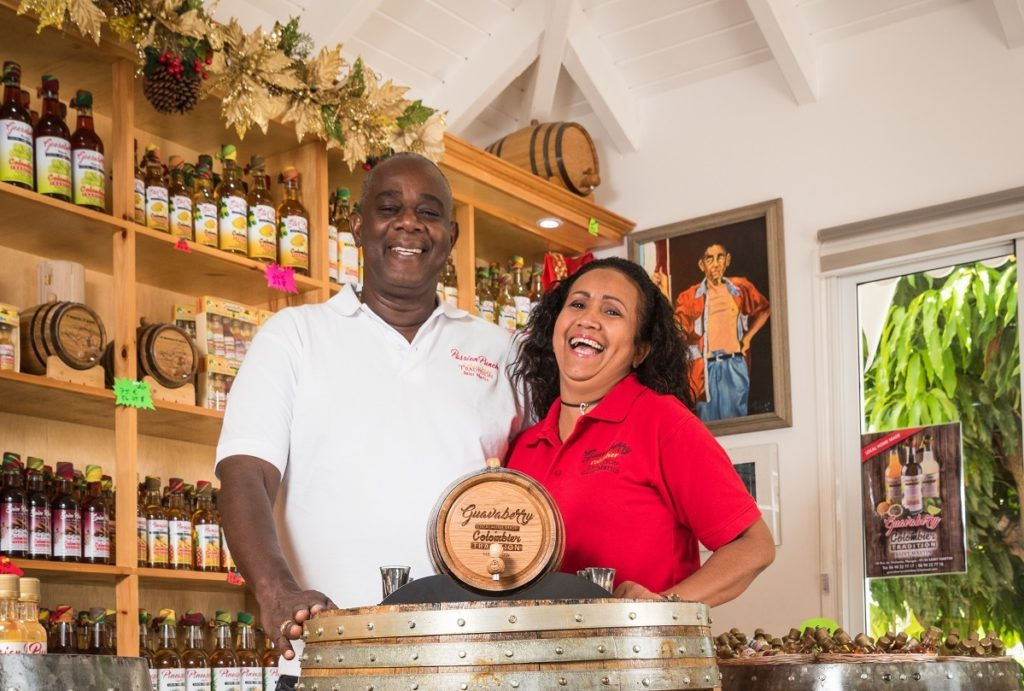 Propriétaires de la boutique La Case à Milo à Saint-Martin