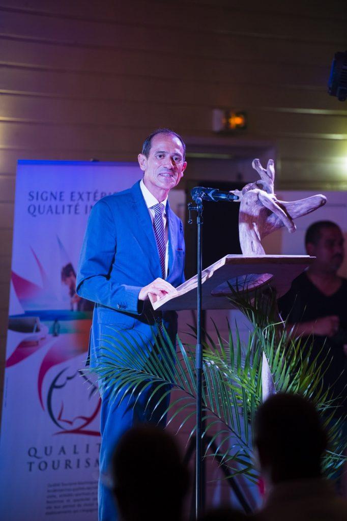 Franck Robine lors de la remise du label Qualité Tourisme de la CCIM