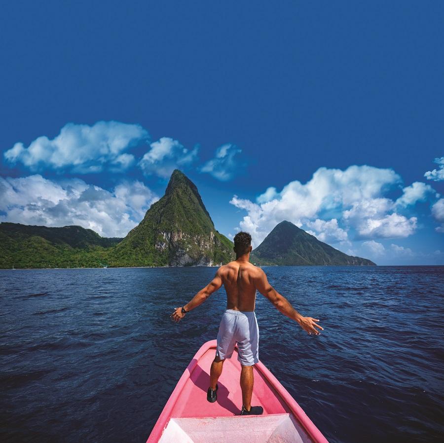 Balade en bateau à Sainte-Lucie