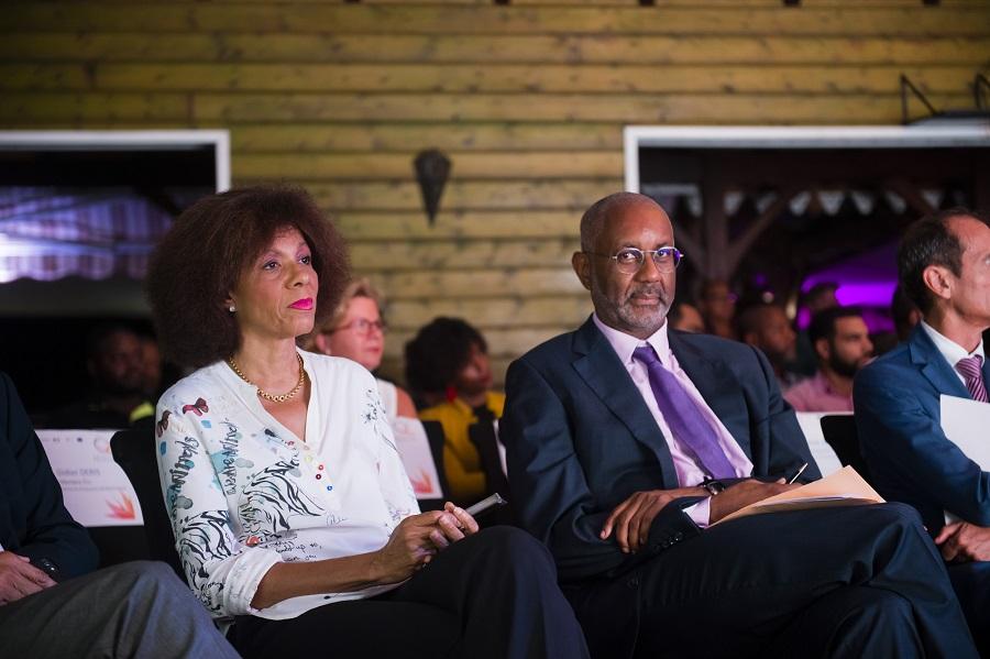 Marinette Torpille et Philippe Jock à la cérémonie de remise du label Qualité Tourisme