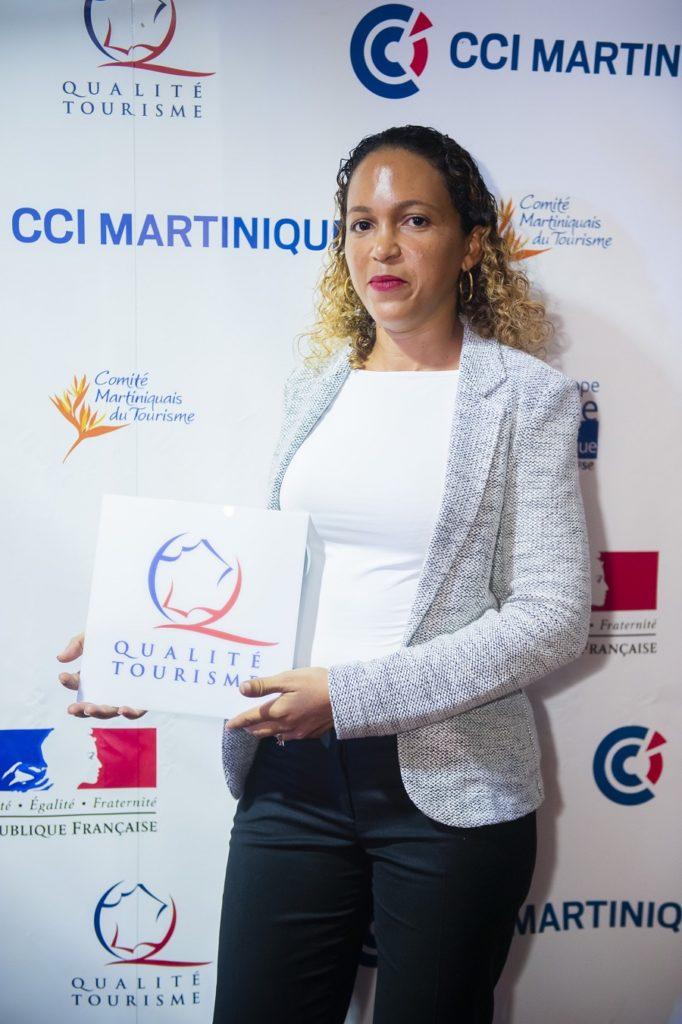 Marie Guinée, lauréate du label Qualité Tourisme pour l'hôtel Plein Soleil